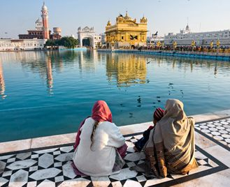 Golden Temple and the Himalayas