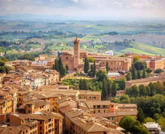 Tuscan towns and countryside