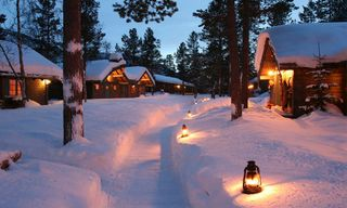 Winter At Ongajok Mountain Lodge