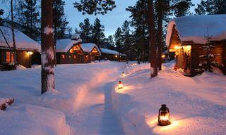 Winter At Ongajok Mountain Lodge
