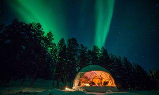 Aurora Domes At Harriniva