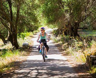 Cycling Captain Corelli's Island