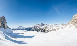 Snowshoeing in the Dolomites