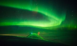 Northern Lights flight above Finnish Lapland