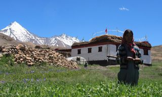 With the inhabitants of Spiti